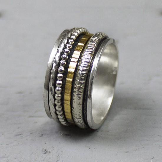JEH  Ring zilver + Gold FIlled Creatief mt 56 - 10032620