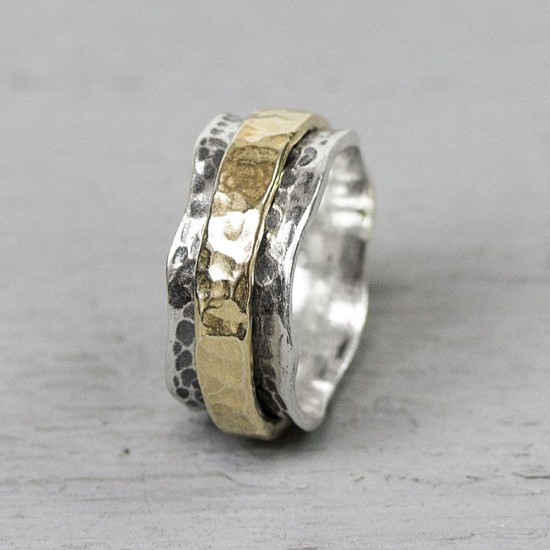 Jeh Ring zilver OXY + GOLDFILLED MT 56 - 10032748